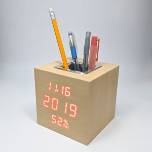 Led wooden clock vst-878s