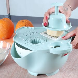 Magic Rotate Vegetable Cutter With Drain Basket