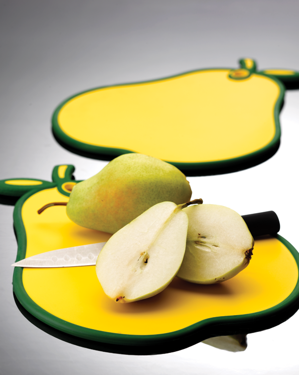 Non Slip Pear Chopping Board