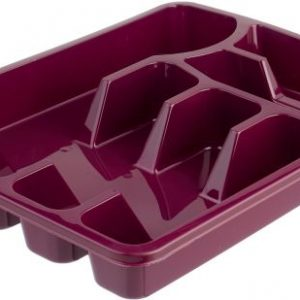 Bager BG-330 Large Plastic Cutlery Tray - Maroon