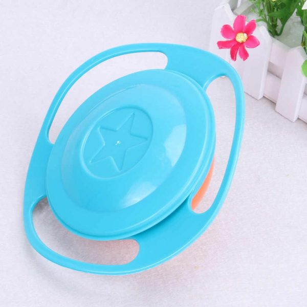 360 Rotate Universal Gyro Spill Proof Bowl
